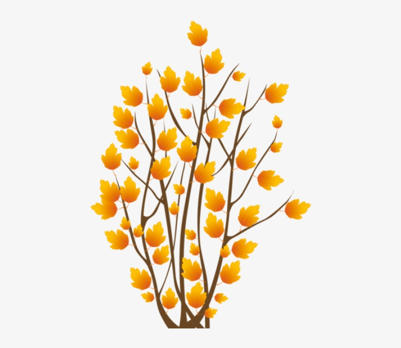 Free Png Fall Bush Png Images Transparent - Tree Autumn Vector, transparent png #8239558
