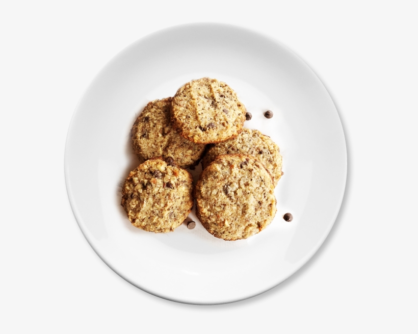Keto Chocolate Chip Cookies On Plate - Peanut Butter Cookie, transparent png #8240181