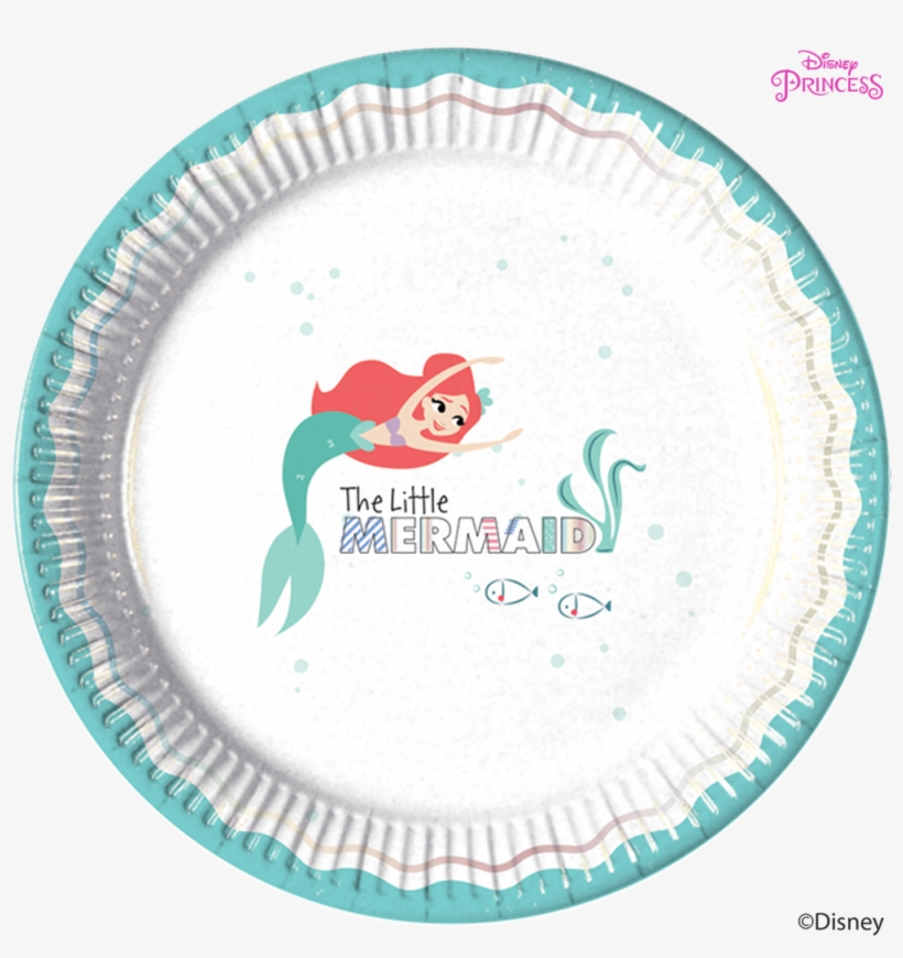 Disney Princess Ariel Under The Sea Party Paper Plates - Little Mermaid Procos, transparent png #8240596