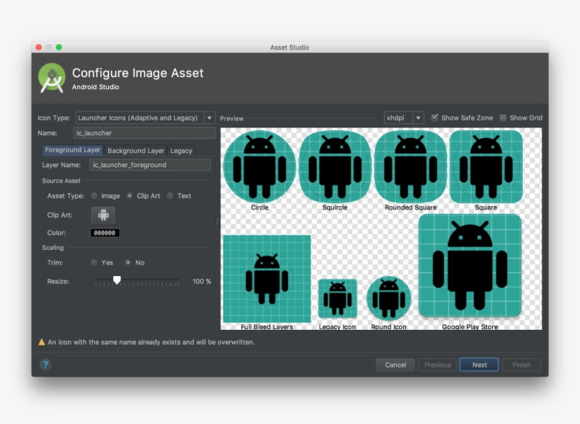 Image Asset Studio On Android Studio Dialog Android Background
