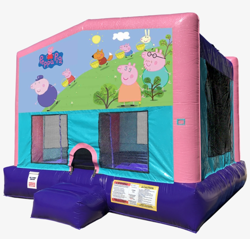 Peppa Pig Sparkly Pink Bounce House Rentals In Austin - Lol Surprise Bounce House, transparent png #8261857
