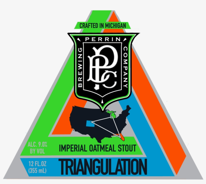 Triangulation, Imperial Oatmeal Stout - Perrin Brewing, transparent png #8263124