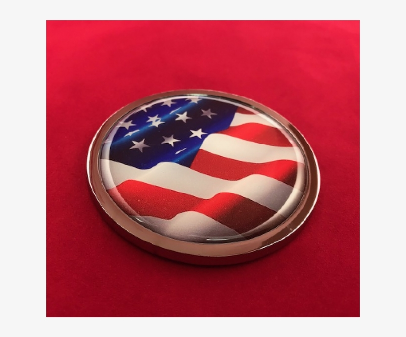 Waiving American Flag 3d Domed Emblem - Flag Of The United States, transparent png #8270498
