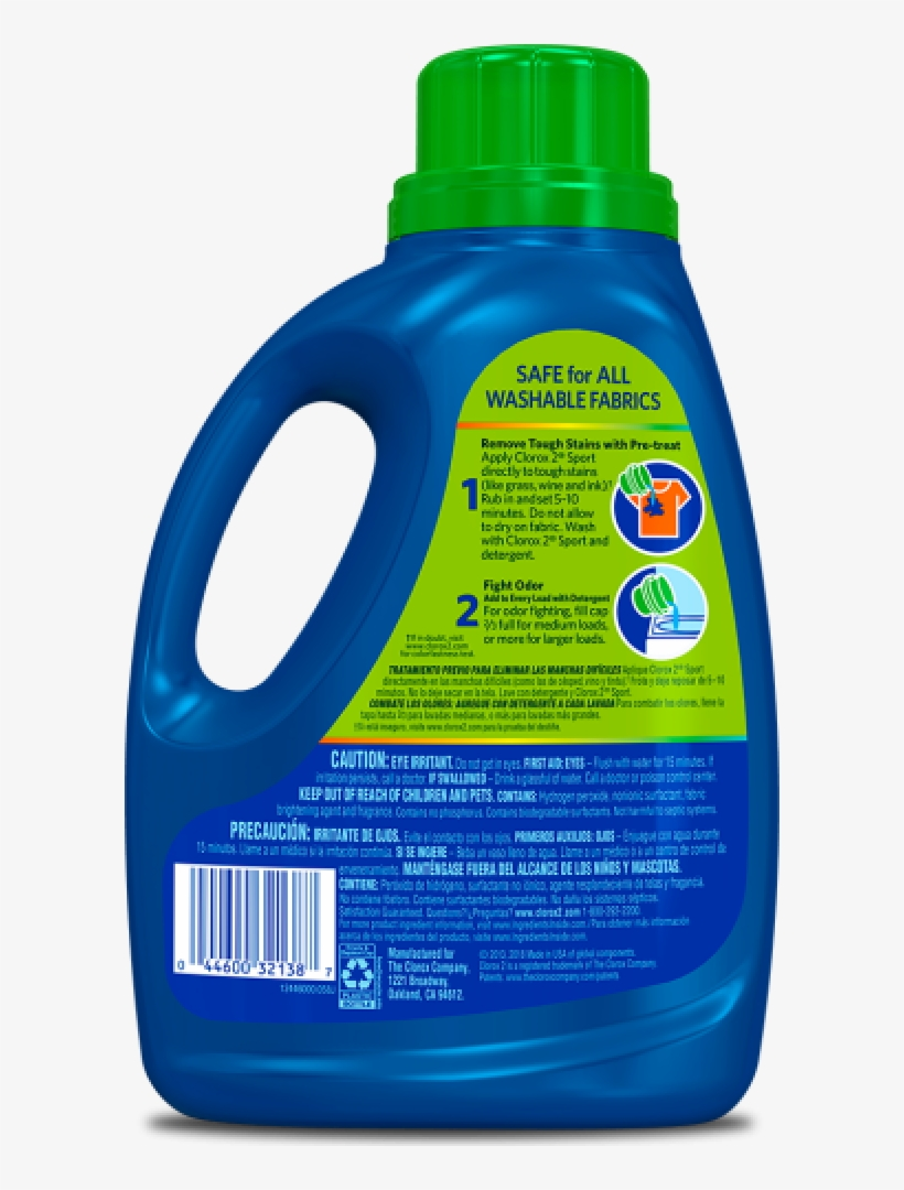 Give Odors And Stains A One Two Punch With Clorox 2® - Plastic, transparent png #8276470