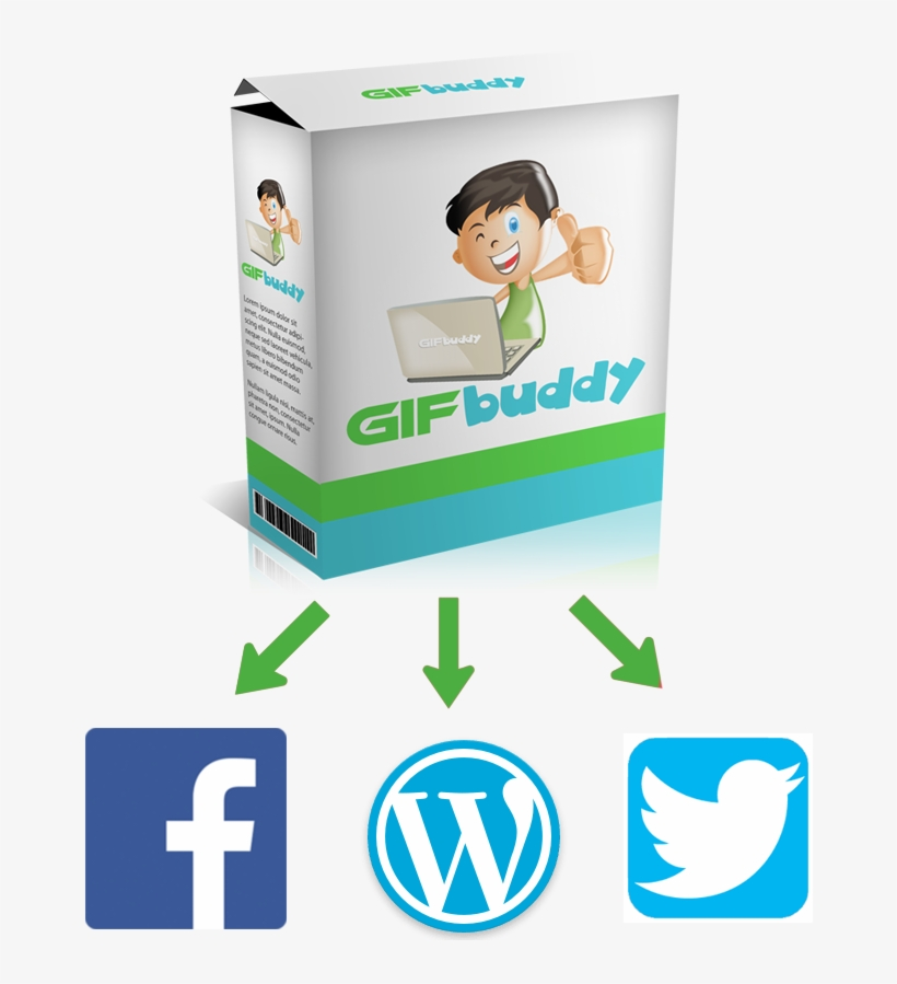 Facebook, Twitter, Wordpress - Transparent Social Media Login Buttons Png, transparent png #8279358