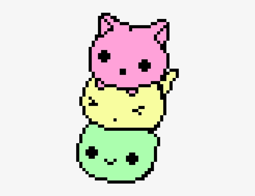 Blob Pixel Art Kawaii Chat Free Transparent Png Download