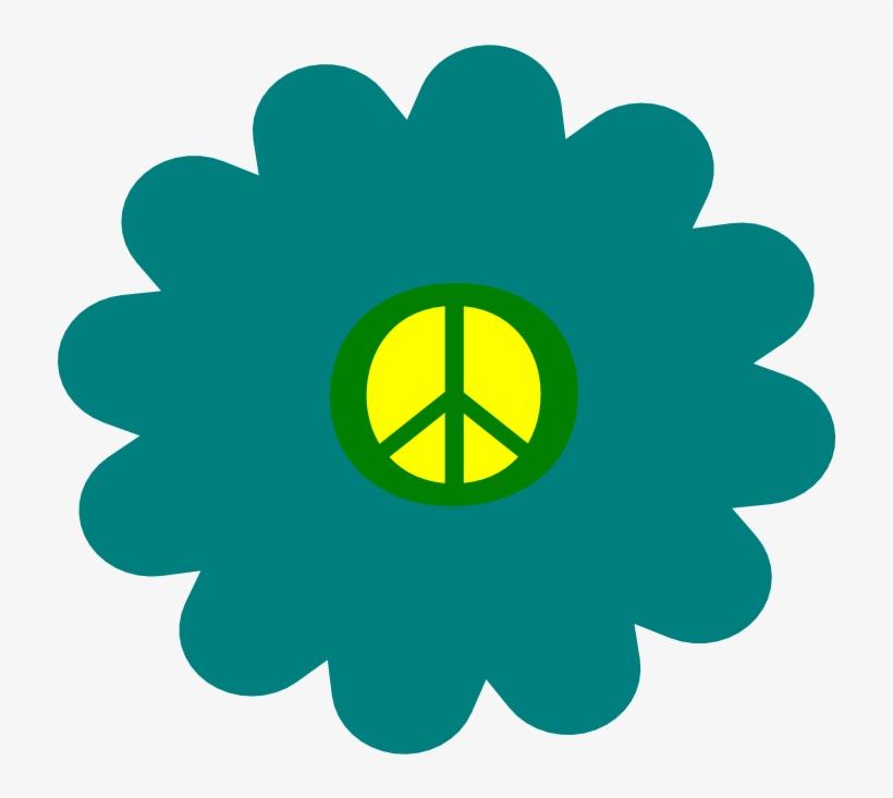 Hazard Clip Art Download - Flower Power Hippie Flowers, transparent png #8289837
