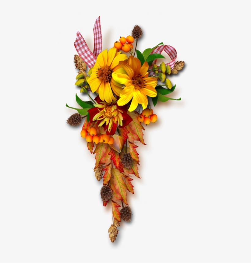 Fall - Tubes Fleurs D Automne, transparent png #8291417
