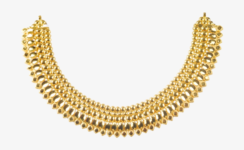 Gold Necklace Designs Sweet Looking Thanmay N Ⓒ - Gold Necklace Designs By Malabar, transparent png #8296528