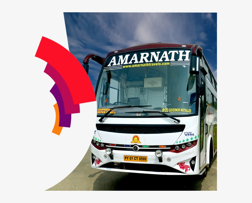 Amarnath Travels With Years Of Experience In The Travel - Tour Bus Service, transparent png #8299087