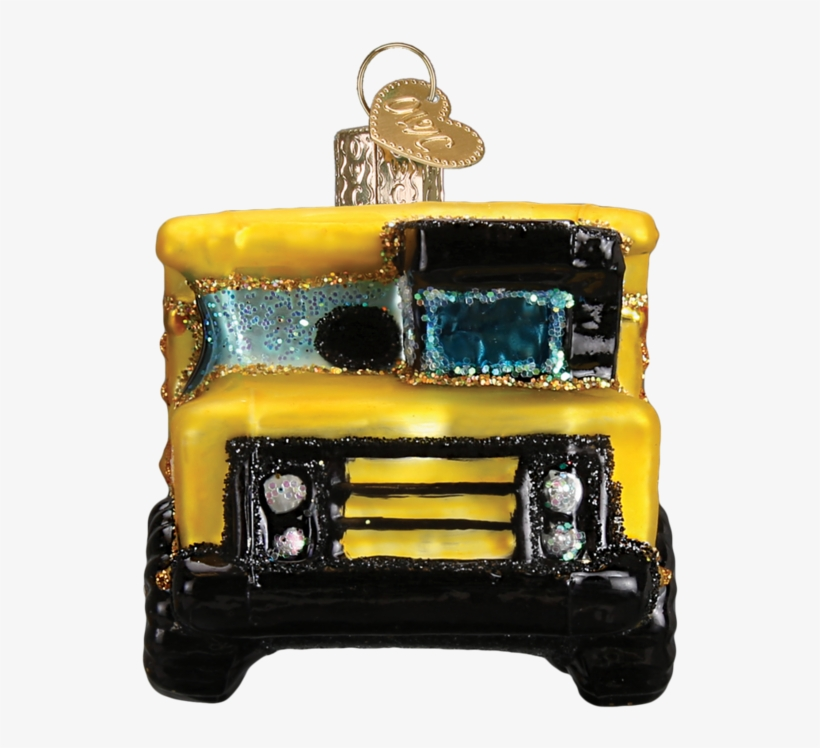 Old World Christmas Toy Dump Truck Glass Blown Ornament, transparent png #833166