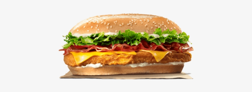 Bacon Cheese Chicken Royale - Burger King Chicken Royale, transparent png #833927