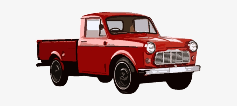 The Basic Style Of Pickup Truck Has A Modified Truck - Vintage Red Pickup Truck Png, transparent png #834066