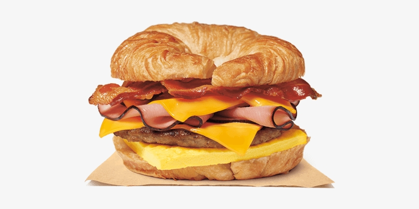 Fully Loaded Croissan'wich® - Burger King Breakfast Sandwiches, transparent png #834232