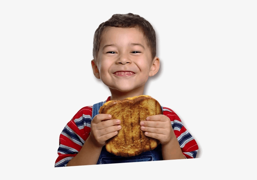 Say Cheese Kid - Eating A Peanut Butter And Jelly Sandwich, transparent png #834294
