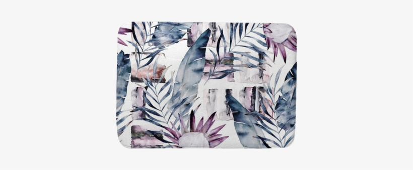 Abstract Print With Marble Random Elements And Watercolor - Watercolor Painting, transparent png #834830