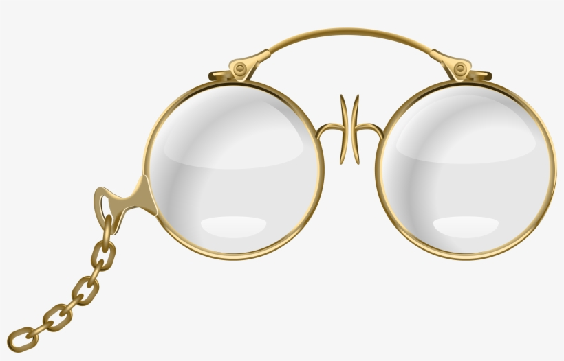 Banner Free Stock Free Clipart Of Eyeglasses - Gold Glasses Clipart, transparent png #835220