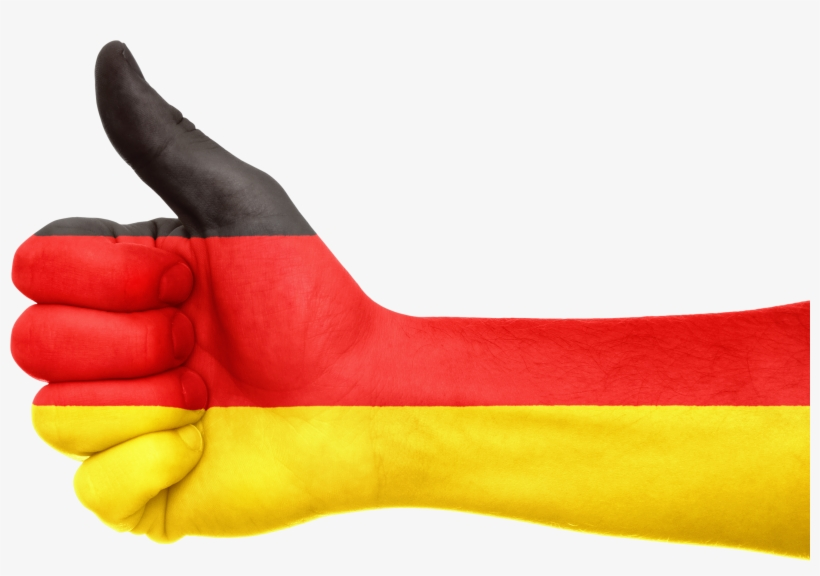 Germany Flag Hand National Fingers 664894 - German Flag Thumbs Up, transparent png #836086