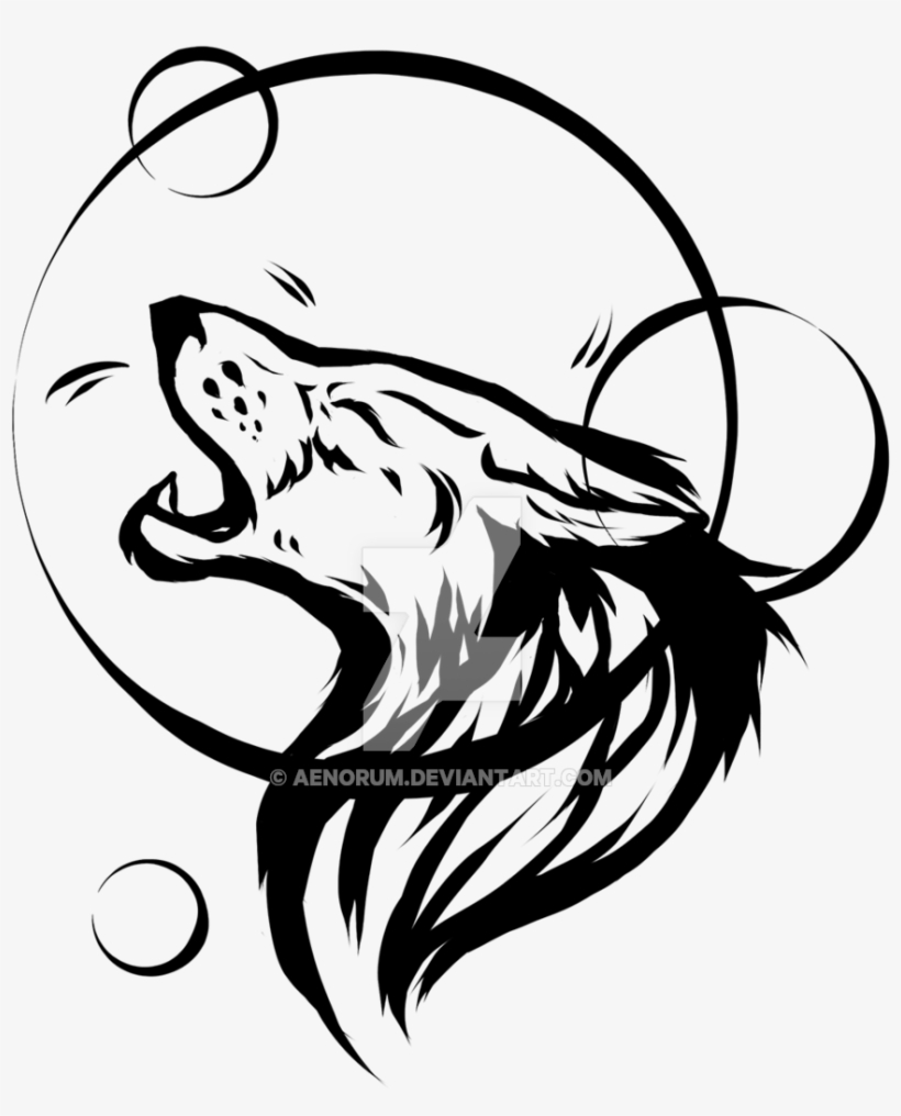 10ccc9723 Howling Wolf Tattoo Design Images - Wolf Tattoo Transparent - Free ...