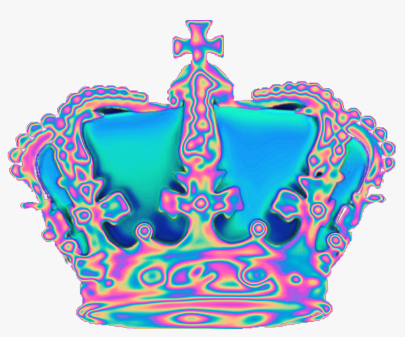 holo holographic tumblr vaporwave aesthetic crown freet aesthetic