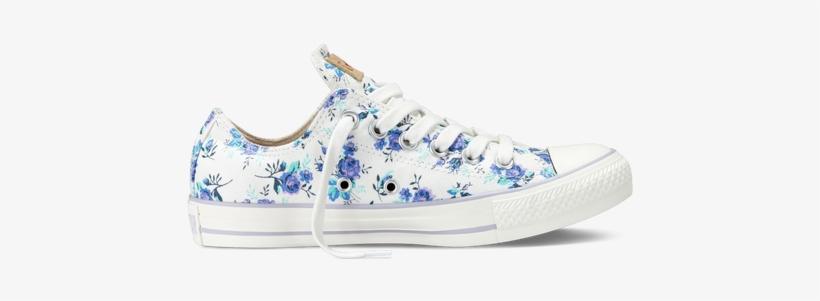 Chuck Taylor Floral - Design Own Shoe Converse Flower, transparent png #838137