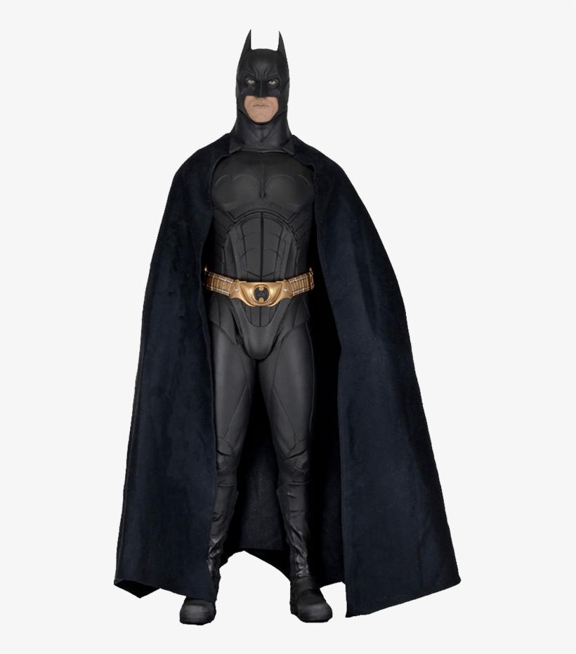 Batman Begins Large Batman Action Figure - Batman Begins 1/4 Scale Christian Bale Figure, transparent png #838160
