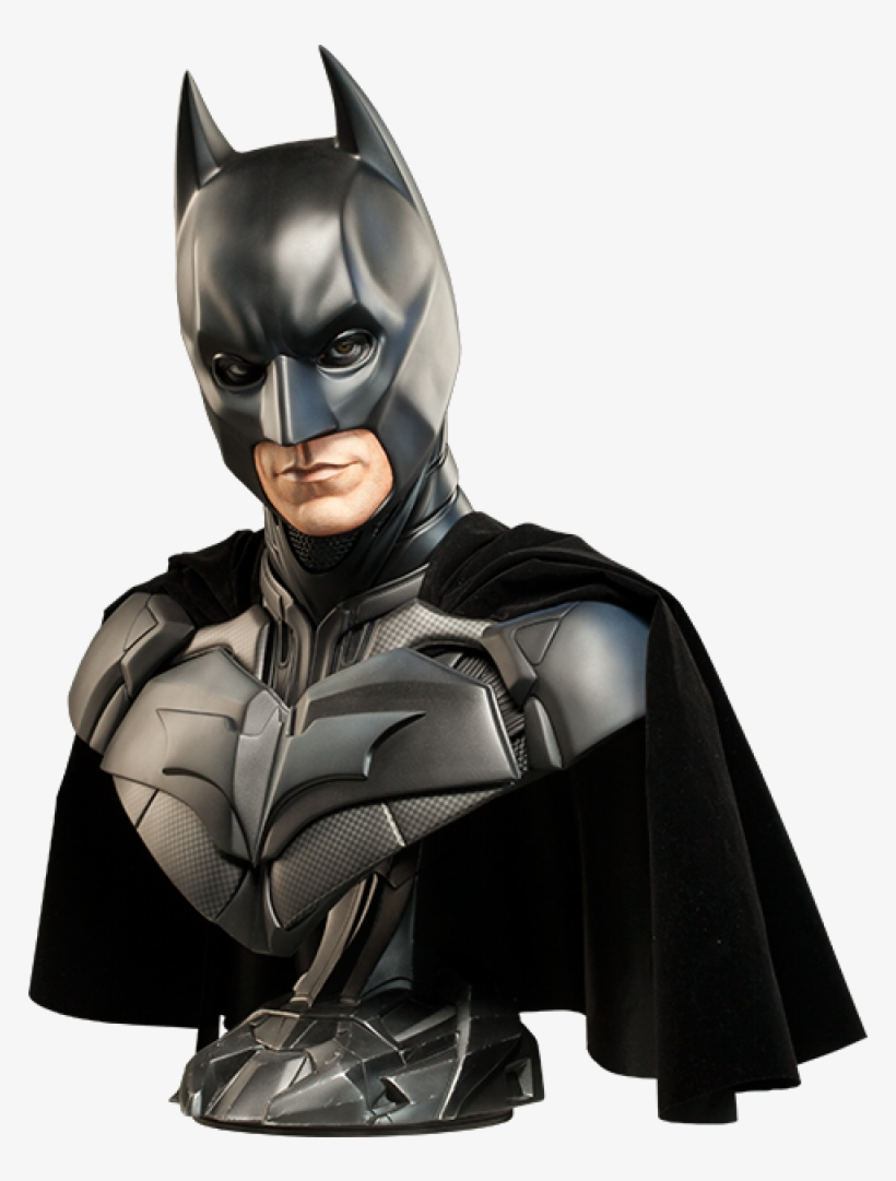Batman The Dark Knight Life-size Bust - Batman Dark Knight Bust, transparent png #838199