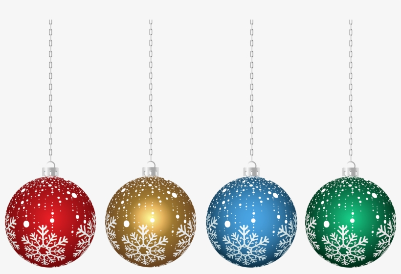 Transparent Hanging Christmas Ornaments Png - Transparent Christmas Clipart Ornaments Png, transparent png #839894