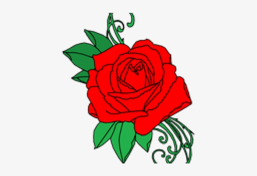 Rose Tattoo Clipart Picsart Png - Tattoo Rose Clipart Png, transparent png #8302097
