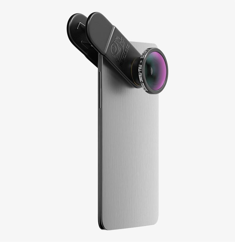 Full-frame Fisheye Smartphone Camera Lens Lens Black - Black Eye Combo 2 In 1, transparent png #8307285