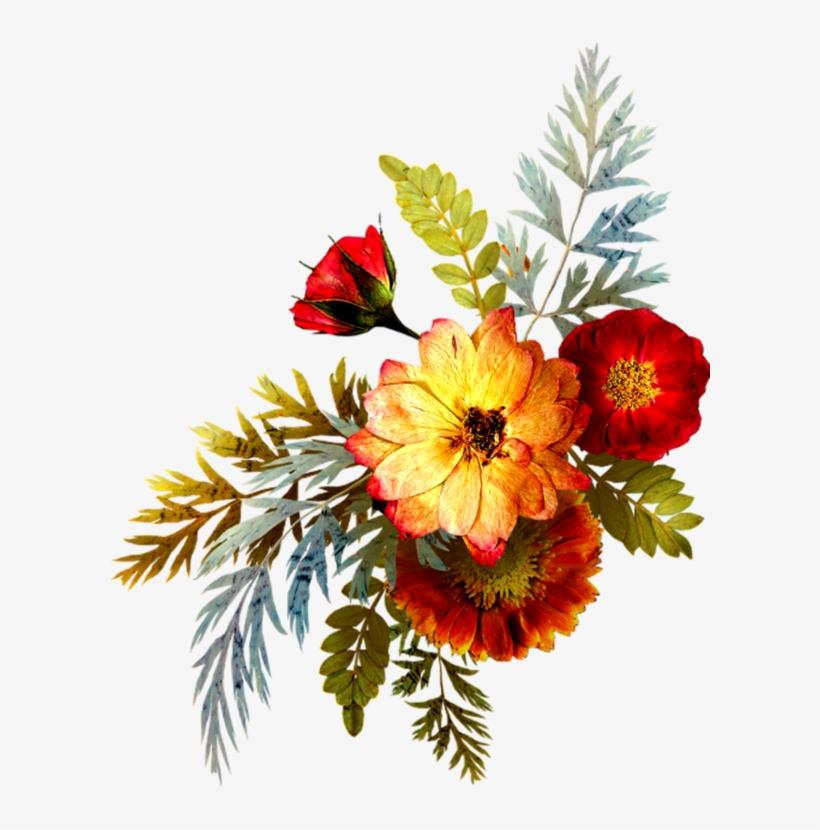 Flower Bouquet Drawing, Flower Art, Flower Png Images, - Vintage Fleur Png, transparent png #8307745