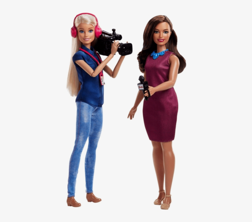 Barbie Career Tv News Team Camera Woman And Anchor - Barbie Tv News Team, transparent png #8313637