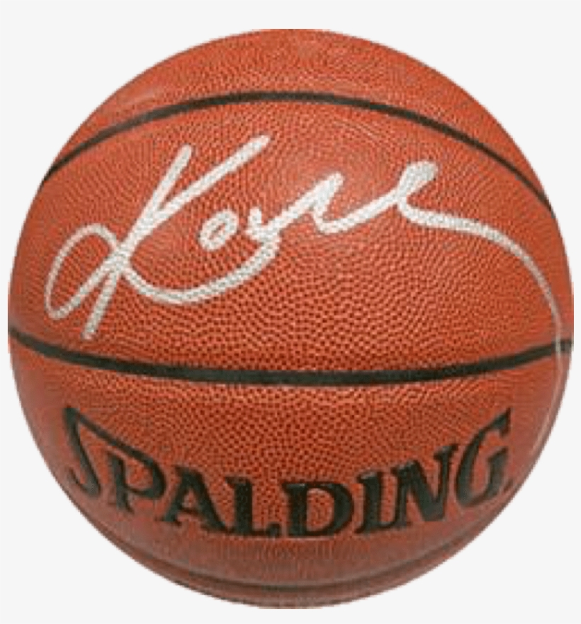 Kobe Bryant Los Angeles Lakers Nba Authentic Autographed - Okc Spalding Basketball, transparent png #8314184