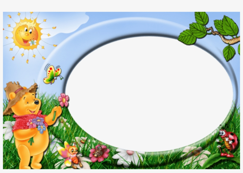 Free Png Best Stock Photos Winnie The Pooh Cute Kids - Pooh Borders And Frames, transparent png #8318931