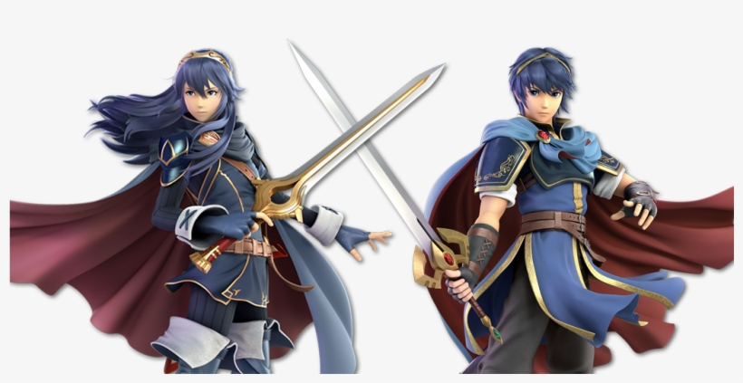 Lucina And Marth - Super Smash Bros Ultimate Characters Marth, transparent png #8322025