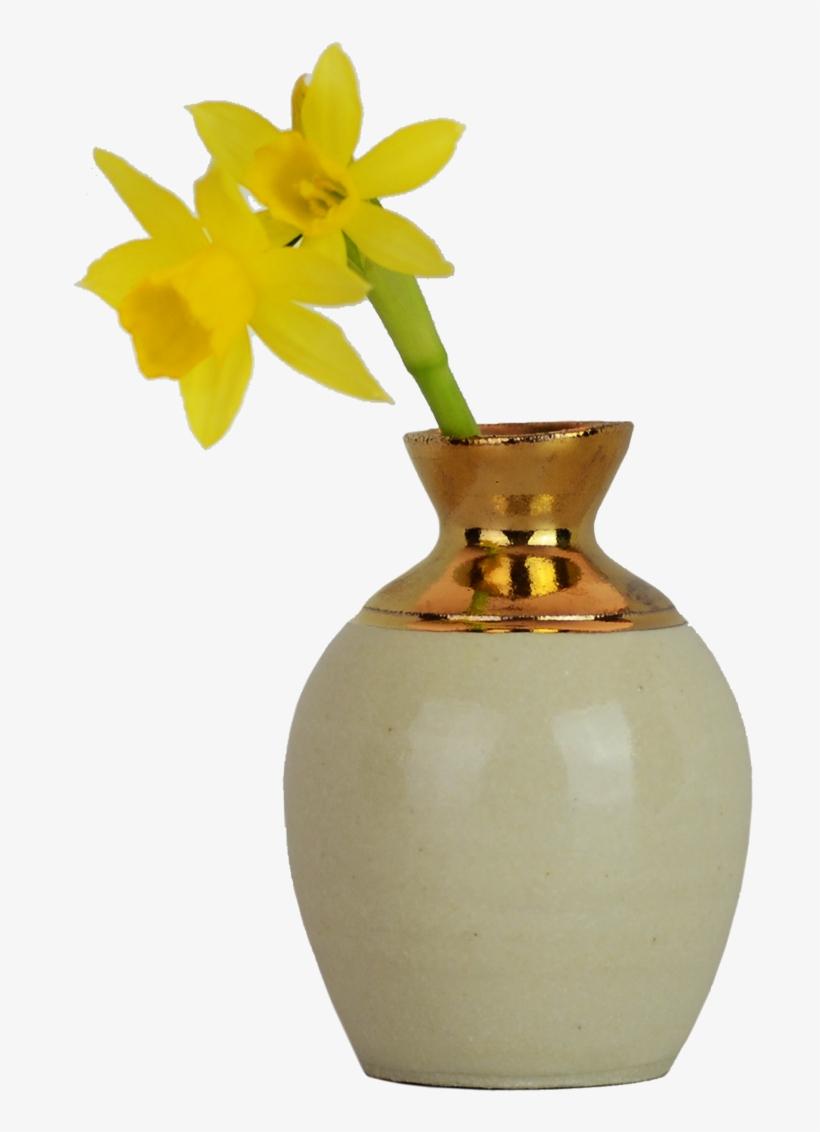 Ink Pot Bud Vase With 14k Gold Ecommerce Beekman - Vase Flower Gold Png, transparent png #8323962