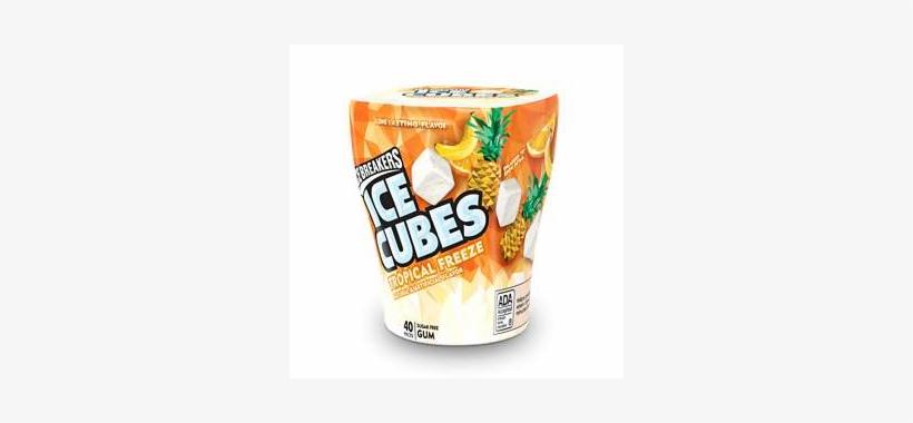 Ice Breakers Ice Cubes Tropical Freeze Gum, 40-piece - Orange Soft Drink, transparent png #8330605