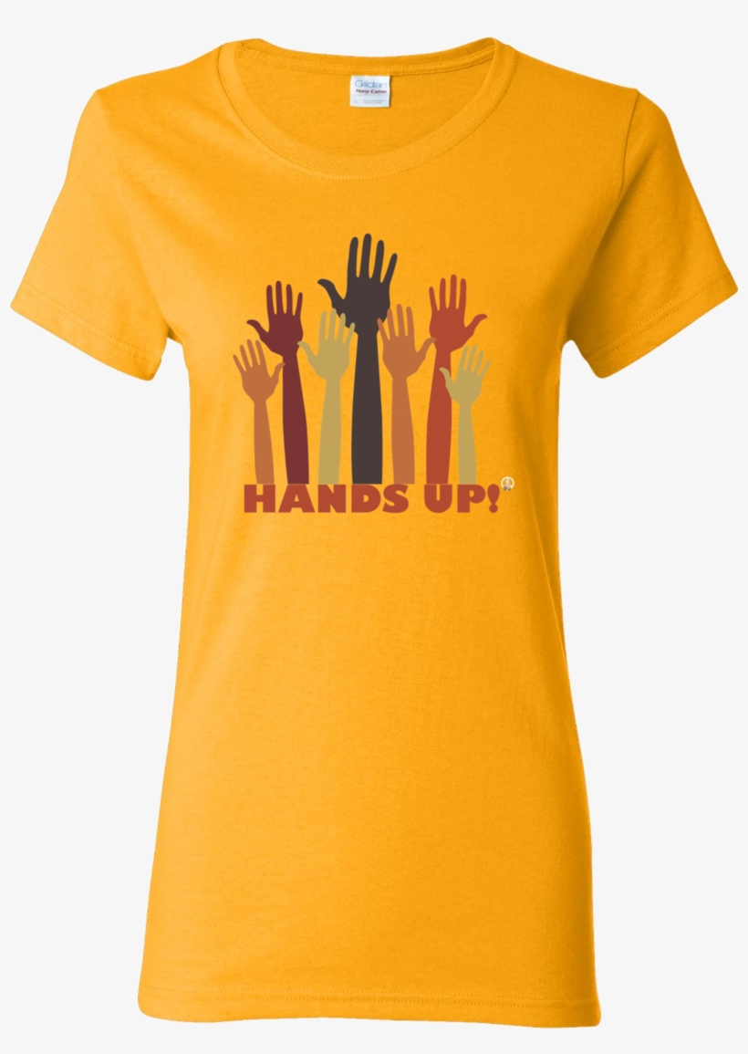 The Hands Up Pw2 Women's Gold T-shirt - Farmers Only Dot Com Logo, transparent png #8332774
