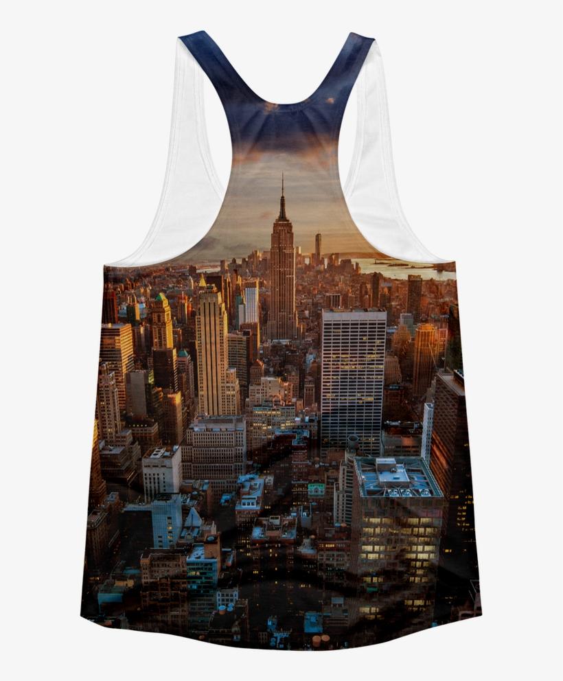 New York City Skyline Women's Racerback Tank Top - Empire State Building, transparent png #8335026