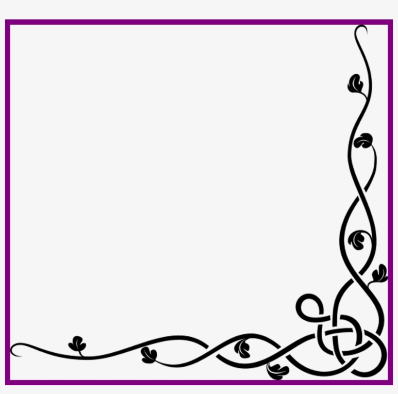 Tattoo Rose Tattoo Rose Vine Designs Amazing Celtic - Border Designs A4 Size Paper, transparent png #8335890