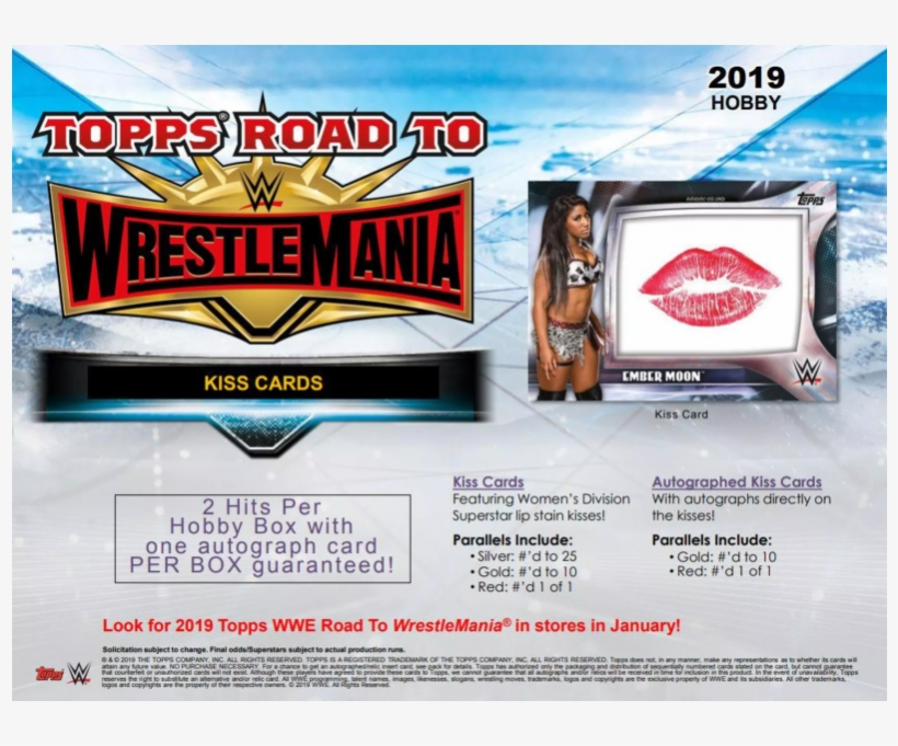 2019 Wwe Road To Wrestlemania Retail, transparent png #8340502