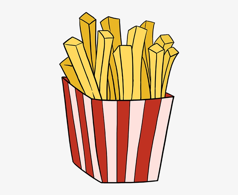 How To Draw French Fries - Draw French Fries, transparent png #8346012