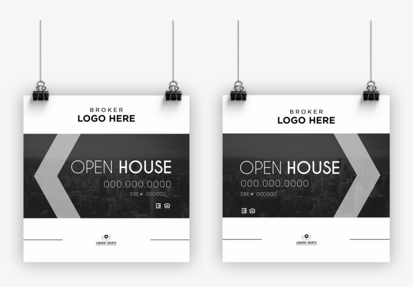 Open House Signs - Open House Sign Design, transparent png #8347154
