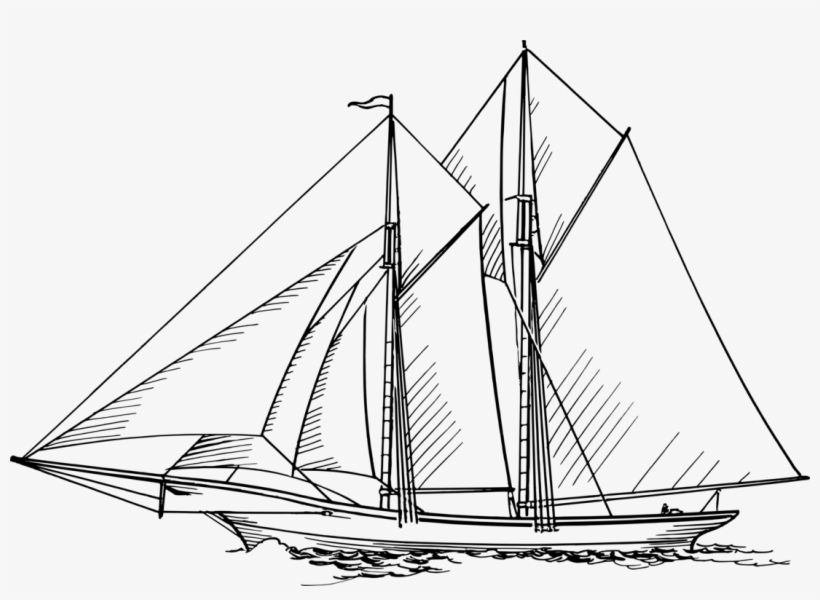 Sailing Ship Boat Ship Of The Line - Fore And Aft Ship, transparent png #8349573