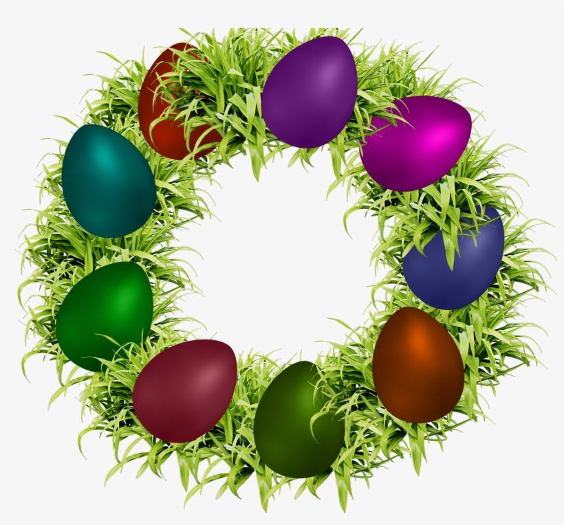 Easter,green Leaves,png Image,decoration,egg Easter,colors,dedicated - Easter, transparent png #8353308