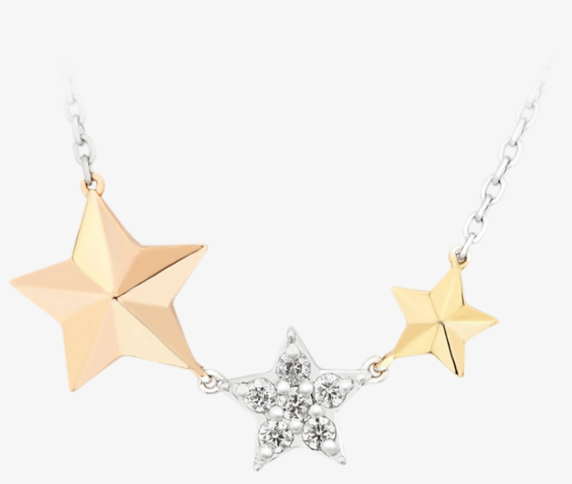 Dangling Twinkle Star Diamond Chain Necklace - Earrings, transparent png #8357922