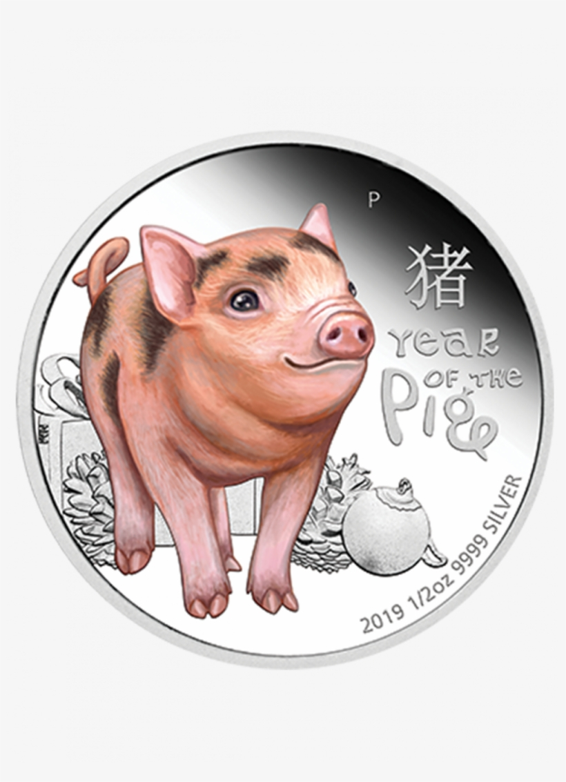 The Singapore Mint - Year Of The Pig 2019 Coins, transparent png #8358282