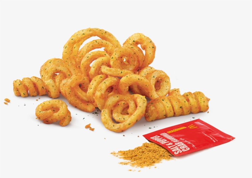 Twist Shake Fries With Salt Pepper Crab Flavoured Curly Fries Mcd Free Transparent Png Download Pngkey
