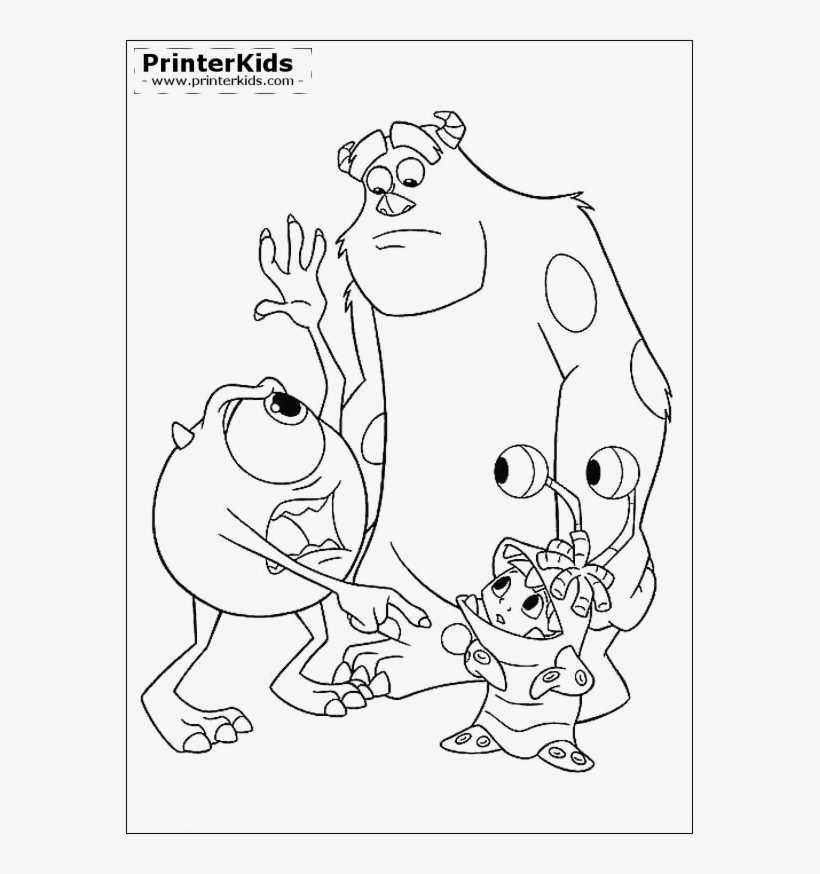 Monsters Inc. coloring pages | 874x820
