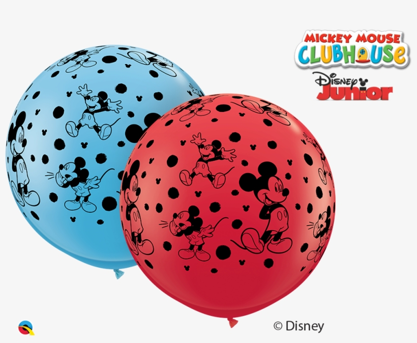 """36"""" Red/blue 02 Count Mickey Mouse Latex Balloons - Mickey Mouse Clubhouse, transparent png #8365591"""